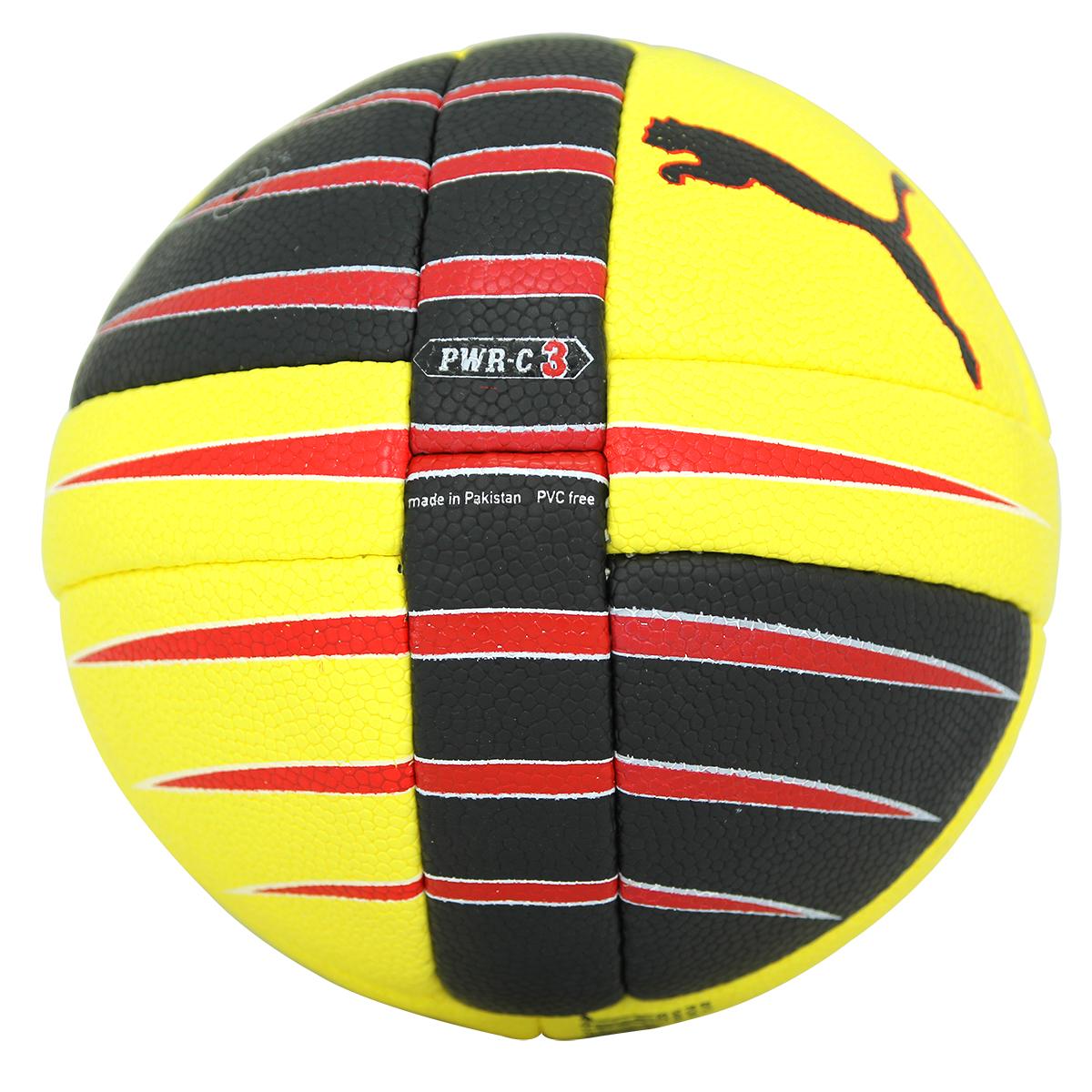 d6faf36934 Puma POWER CAT 3.10 HANDBALL Ballon de Handball Unisex Jaune Noir Rouge 2 2  sur 5 ...