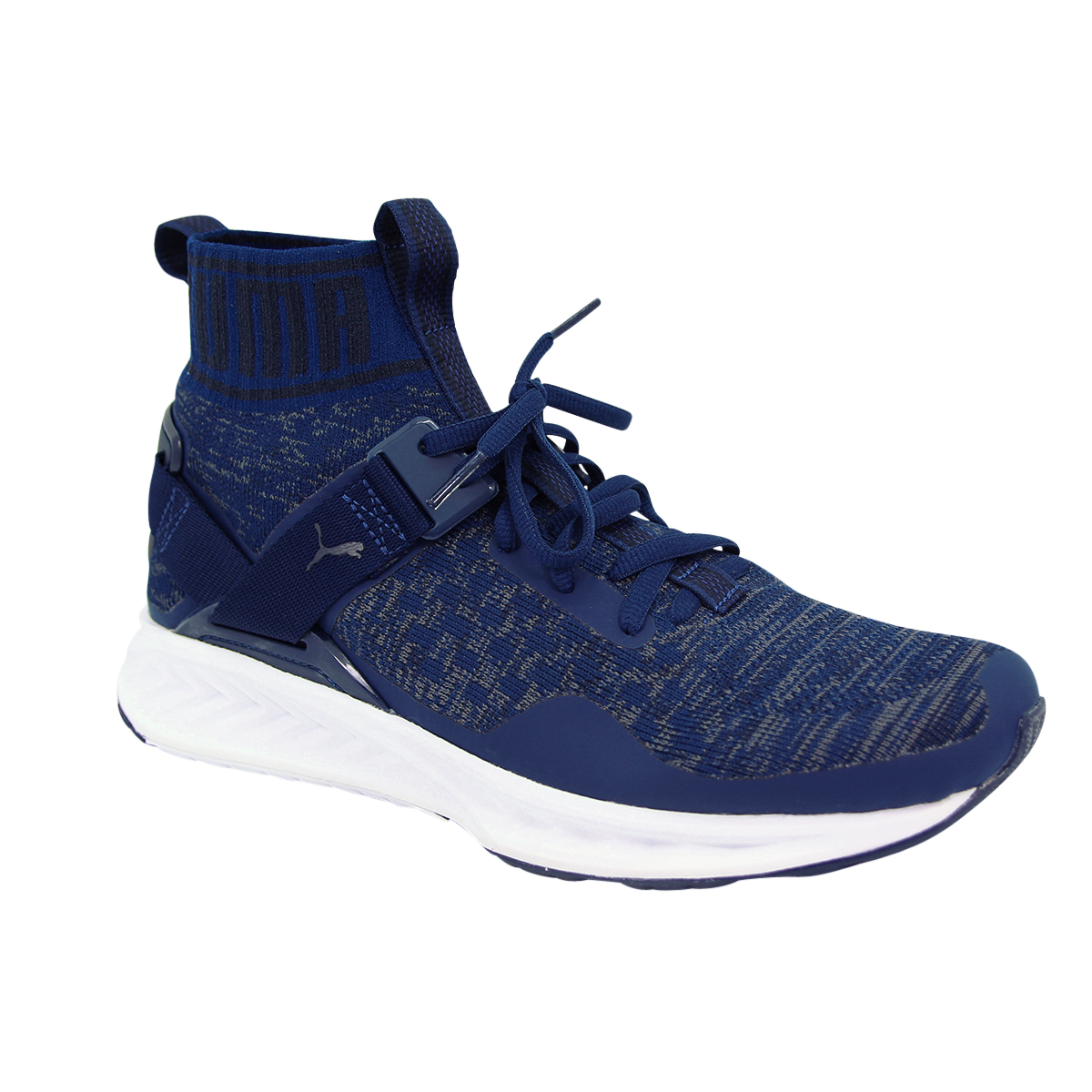 e4e6470fb10 PUMA Ignite Evoknit Men s Shoes High Top Trainers Blue Depths Drift 189697- 11 UK 11. About this product. Picture 1 of 12  Picture 2 of 12 ...