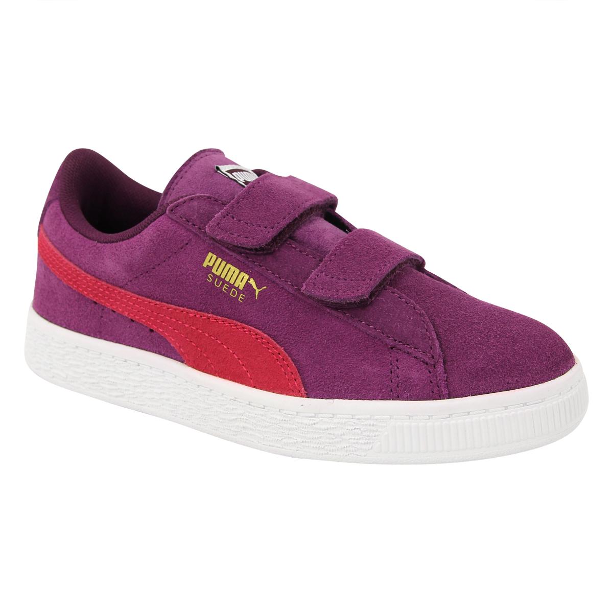 cc6c829973c13 Puma SUEDE 2 STRAPS Chaussures Mode Sneakers Enfant Cuir Suede