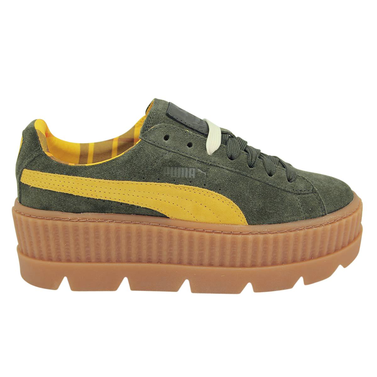 new concept ca144 33167 Details zu PUMA FENTY CLEATED CREEPER SUEDE Damen Sneakers Schuhe Neu