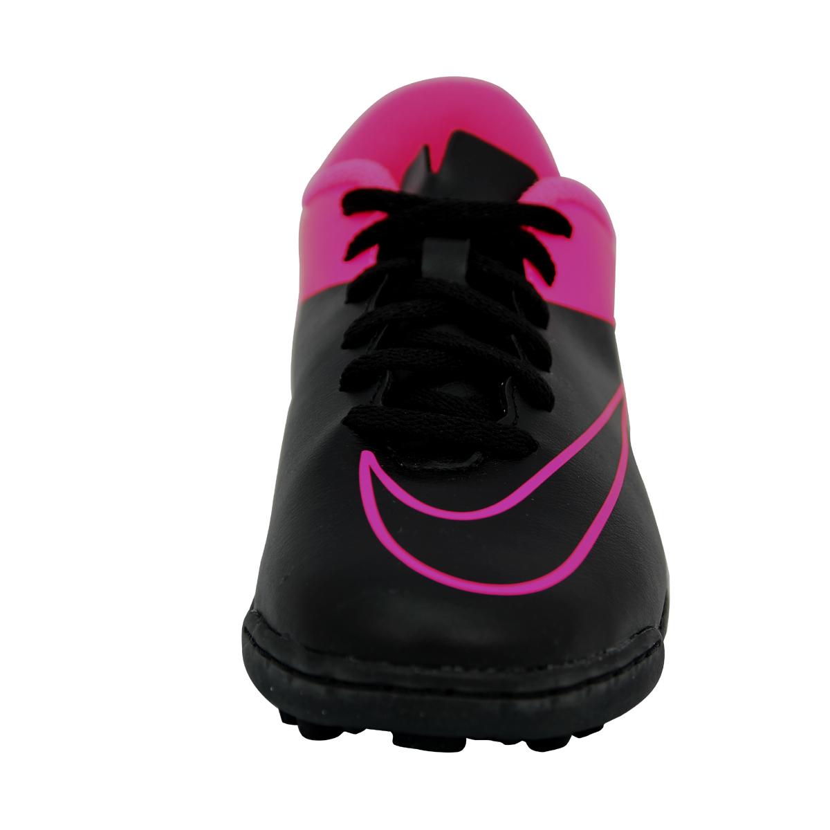 sports shoes 6facd 88916 Nike JR MERCURIAL VORTEX II TF Chaussures de Football Fille Enfant Noir Rose  5 5 sur 6 Voir Plus