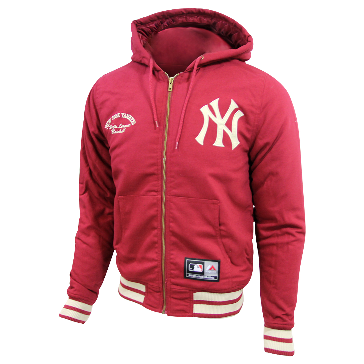 watch 181f9 8f84e Details about Majestic DEERING NEW YORK YANKEE HOODIE Men Major League  Baseball Jacket